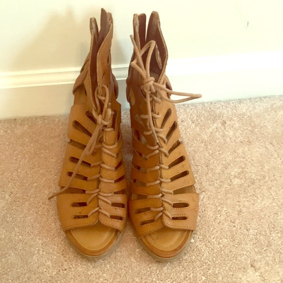 Rampage Vicker Lace Up Sandal Booties